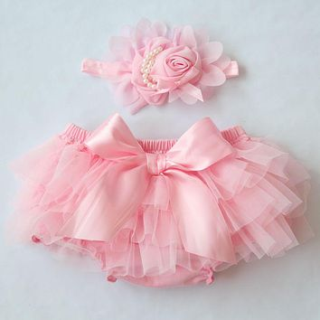Tiered Ruffle Floral Baby Girl Diaper Covers Bloomers Shorts