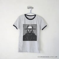 All Monsters Are Human Quote Ringer Tee / Unisex Tshirt / Skull / Evan Peters / Tumblr Inspired / Plus Size