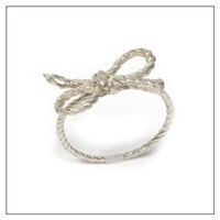 Forget Me Knot Ring Material: Sterling Silver, Size: 5