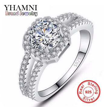 Big Promotion! Fine Jewelry 100% Pure 925 Sterling Silver Engagement Ring Set 2 Carat CZ Diamond Wedding Rings For Women AR011