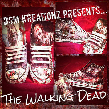 THE WALKING DEAD Custom Converse Chucks