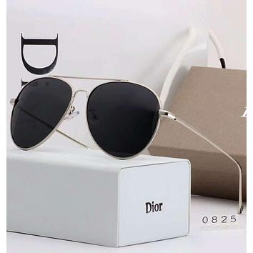 DIOR Stylish Ladies Simple Summer Sun Shades Eyeglasses Glasses Sunglasses Black I-A-SDYJ