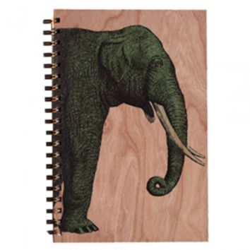 Wood Notebook Elephant Large