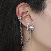 Rhinestone Bow Cuff Earring | Shop Jewelry at Wet Seal