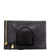 Alix Leather Padlock & Zip Shoulder Bag - TOM FORD