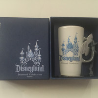 Disney Parks Starbucks Disneyland 60th Diamond Celebration Ceramic Cup Ornament