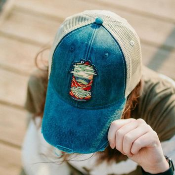Distressed New River Gorge Beer Hat