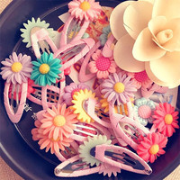 Flower Girls hair clip and hair ties as Hair accesories one Pair ( 2pcs )- cute giftHair Clips