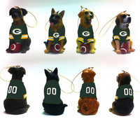Green Bay Packers Dog Ornament