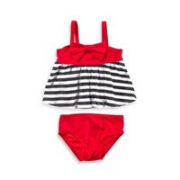 Baby Buns 2-Piece Americana Swimsuit in Red/Black/White