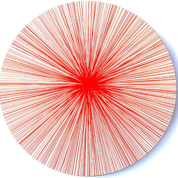 Place-Mat / Coaster Lines Red