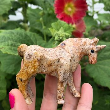 Soapstone Carved Unicorn Figurine