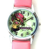 Pink Band One Piece Anime Watch - One Piece Watch