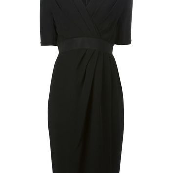 Giambattista Valli pleated front detail fitted dress