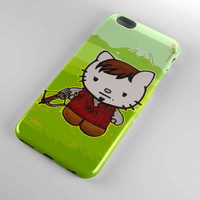 cover for iphone and samsung galaxy case cute daryl dixon hello kitty the walking dead cover iphone case and samsung galaxy case