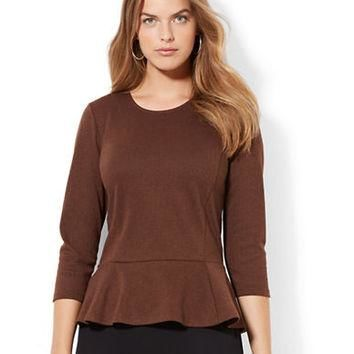 Lauren Ralph Lauren Plus Crewneck Peplum Top