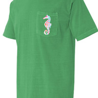 Lilly Pulitzer Seahorse Pocket T