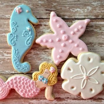 Mermaid and Sea Friends Cookie Cutter Set