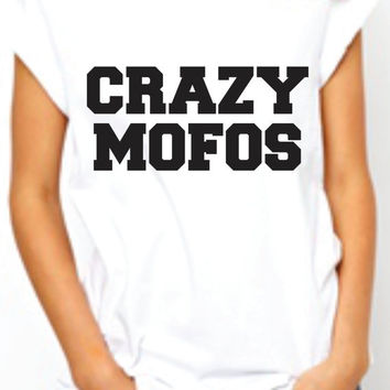 Crazy Mofos One Direction. Womens Band Shirt. 1D Tshirt. Trendy . Harry Styles  Niall Horan Fan Tee