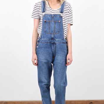 Boyfriend Denim Pant Overalls {Medium Wash}