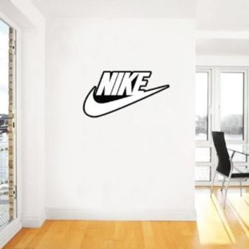 "Nike Swoosh Sport wht Large Wall Decal 25"" X 13"""