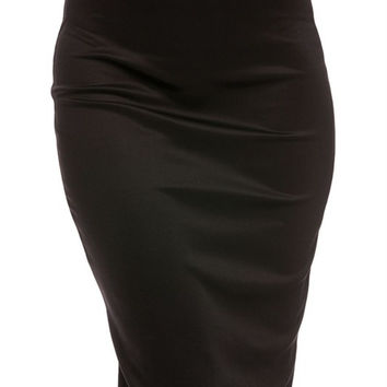 Bodycon Pencil Skirt with Back Slit