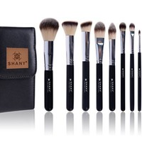 SHANY Ombre Pro 10 Piece Essential Brush Set with Travel Pouch, Black