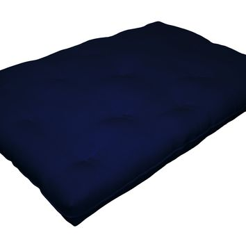Replacement Innerspring Futon Pad, Full-Size, Blue