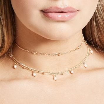 Beaded Chain Choker Set