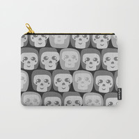 Boo - Skulls Pattern Carry-All Pouch by All Is One