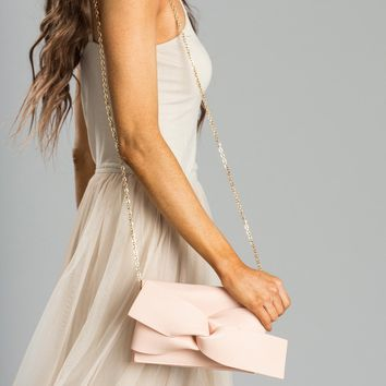 Blaire Blush Knotted Clutch