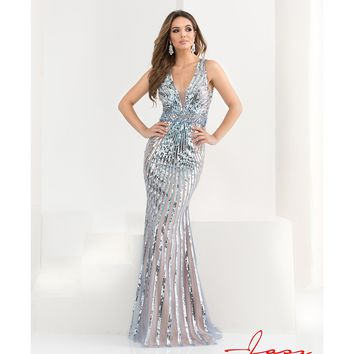 Preorder - Jasz Couture 5775 Blue & Silver Sequin Sexy Long Dress 2016 Prom Dresses