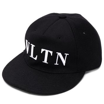 "Black ""VLTN"" Baseball Hat by Valentino"
