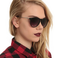Matte Black Keyhole Sunglasses