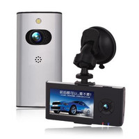 Car dvr 007b driving record before and after the double hd night-vision lens wide-angle mini 720 p, free shipping