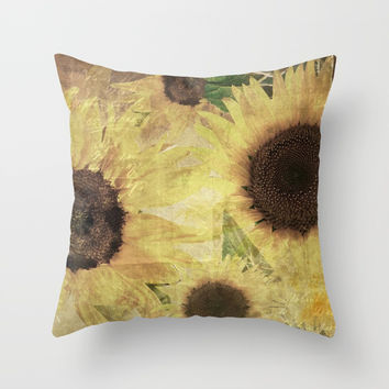 Wallflowers Throw Pillow by Theresa Campbell D'August Art