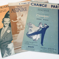Fred Astaire Movie Sheet Music, Change Partners, A Fine Romance, Dearly Beloved