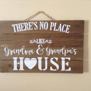 Gift For Grandma And Grandpa, Grandparents Day Gift, Gift From Grandkids, Grandma And Grandpas House Rustic Farmhouse Country Chic Wood Sign