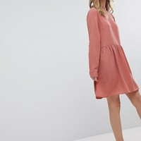Pieces bow mini smock dress in pink | ASOS