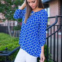 Eternally Linked Top, Blue