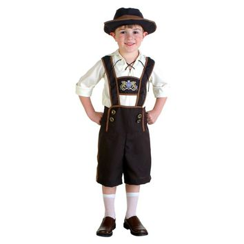 2017 New Boys Halloween Hot Germany Beer Festival Waiter Costume Outfit Kids Cool Beer Funny Child Role Play Oktoberfest Costume