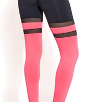 Brazilian Workout Legging - Scrunch Booty Socks Leggings Salmon & Black