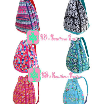 Monogrammed Tennis Backpack, Monogram Tennis Bag