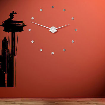 Seattle Skyline City Sights Wall Sticker Decal 2423