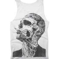 "Rick Genest ""ZOMBIE BOY"" Smoking Handprint Tank Top Canadian Fashion Model Tattoo Artist Shirt Size S M L"
