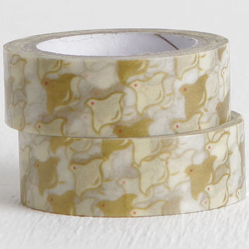 Doves Washi Tape, Chubby Doves in Flight Paper Tape, 15mm