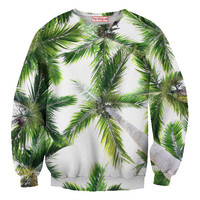 Awesome Palm Tree sweatshirt, front & Back 3D printing sublimation, for women or men.