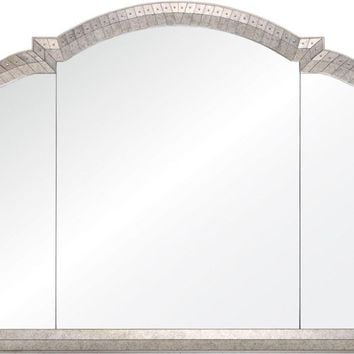 Quick Overview:Antiqued Mirror Framed Triptic Mirror