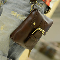 Handmade Leather Pocket in Brown / men bags / fanny pack / messenger bags / graduation gift / leather bags / Men / For He / Gift