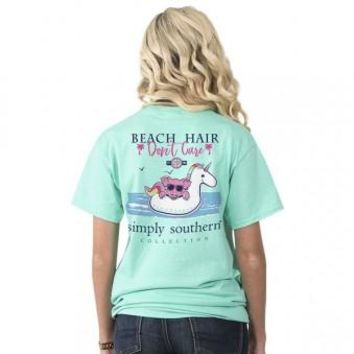 Simply Southern Beach Hair Don't Care - Aqua